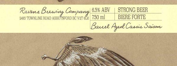 Ravens Brewing Barrel Aged Labels