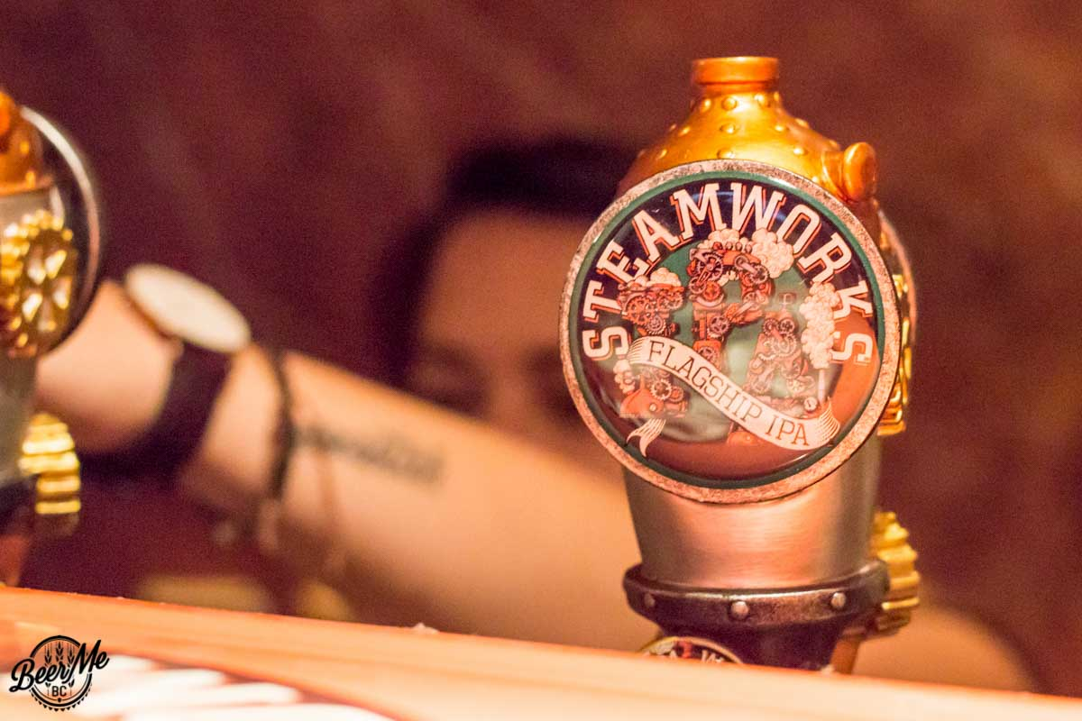 Steamworks Flagship IPA Tap Handle