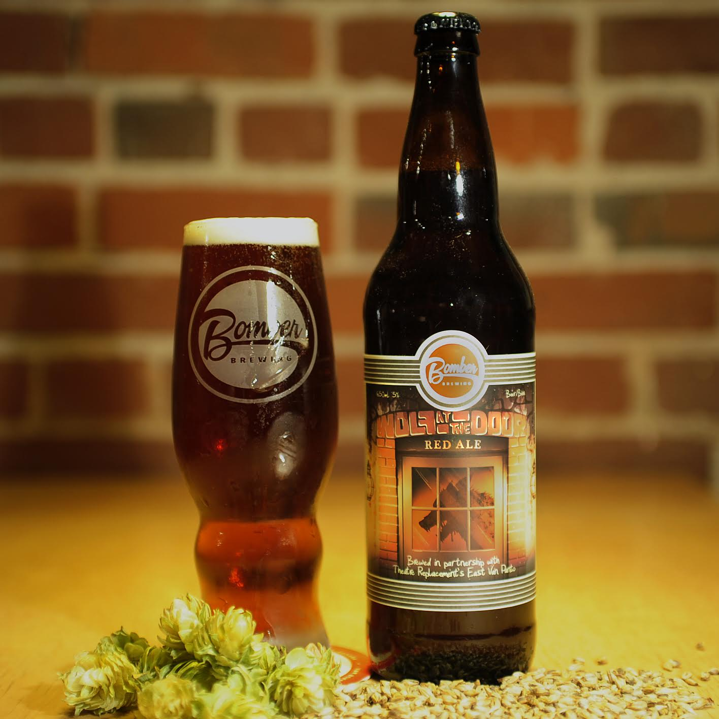 Bomber Brewing Brews Wolf At The Door Red Ale Beer Me British Columbia