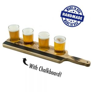 Tasting Flight Glassware & Paddle