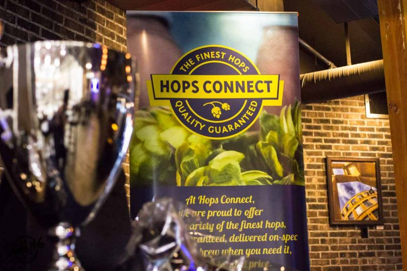 Hops Connect Cup 2016 Trophy and Banner