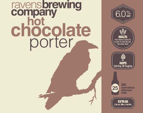 Ravens Brewing Hot Chocolate Porter Label