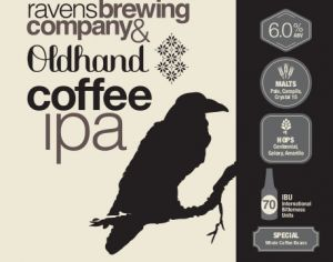 Ravens Brewing Coffee IPA Label