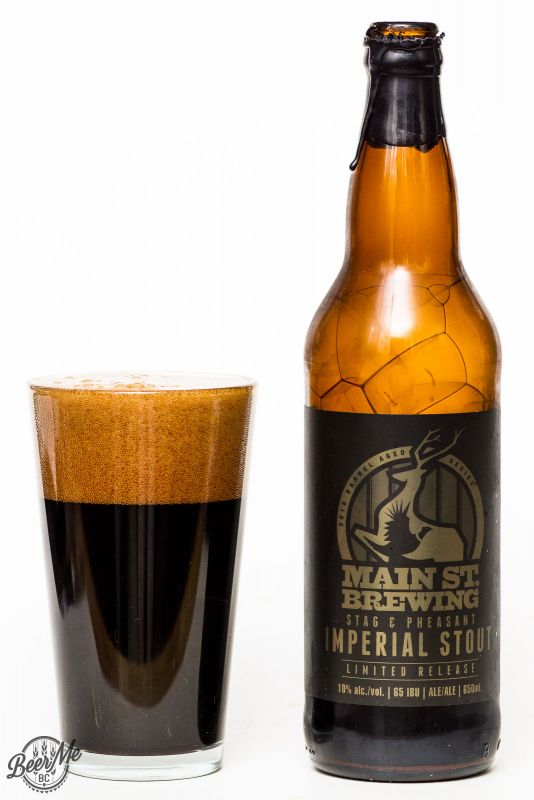Main Street Brewing 2016 Stag & Pheasant Imperial Stout Review