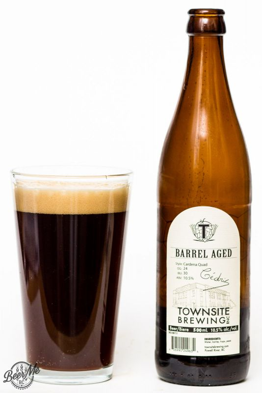 Townsite Brewing Barrel Aged Cardena Quad Review