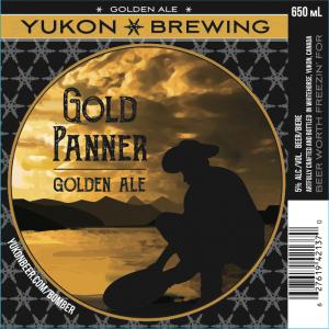 Yukon Brewery Gold Panner label