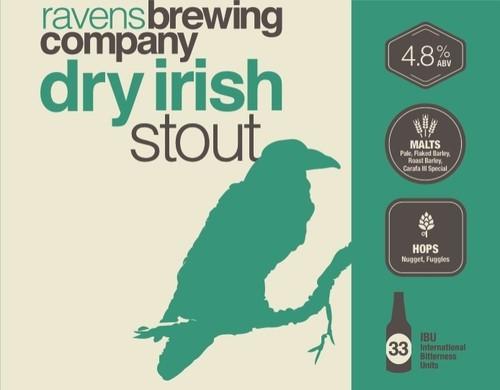 Ravens Brewing Co Dry Irish Stout Label