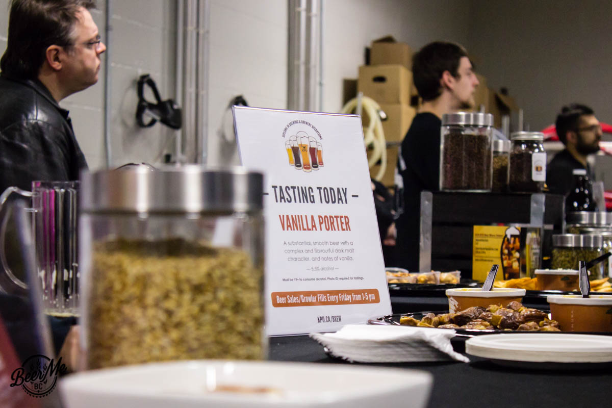 KPU Brewing Program Open House 2017 Now Pouring