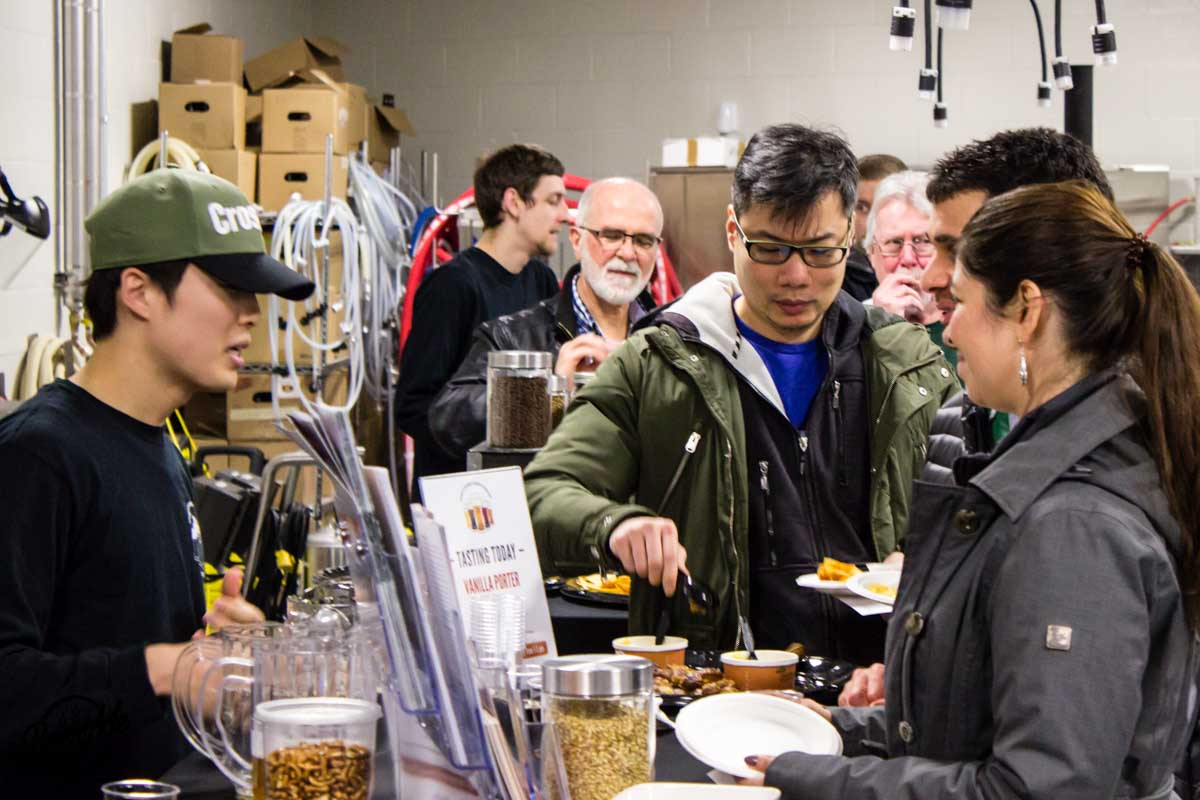 KPU Brewing Program Open House 2017 Answering Questions