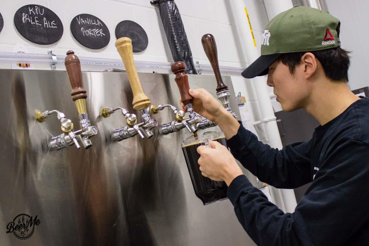 KPU Brewing Program Open House 2017 Pouring Porter