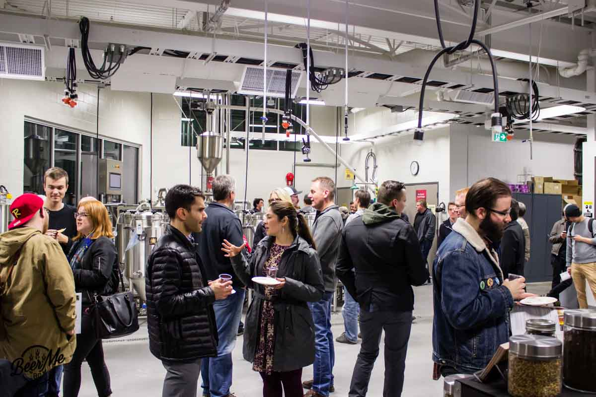 KPU Brewing Program Open House 2017 Crowd Conversations
