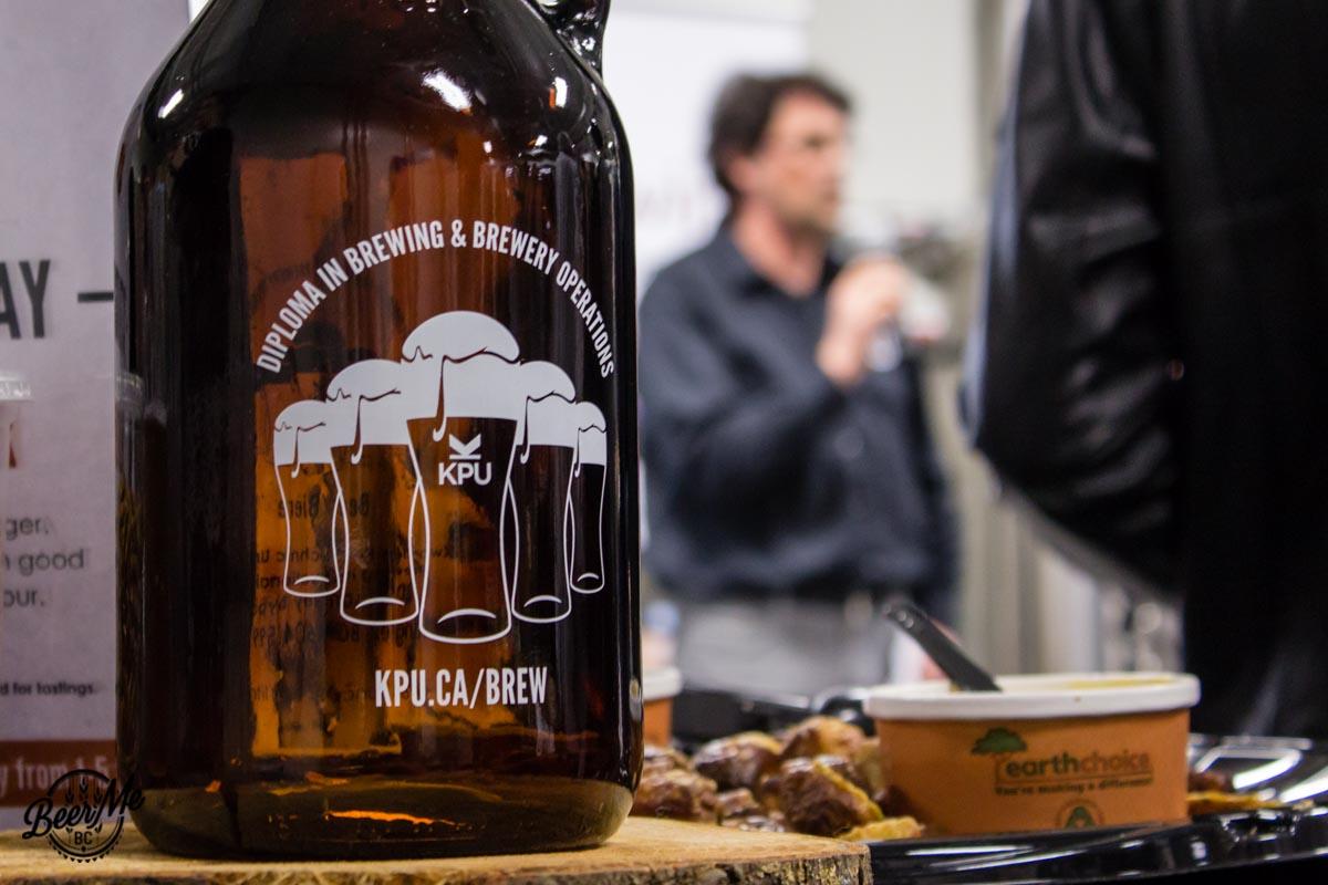 KPU Brewing Program Open House 2017 Growler and speaker