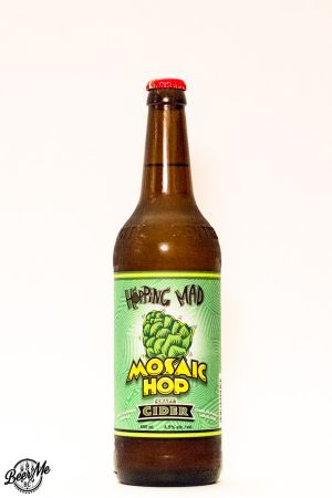 Central City Brewing Hopping Mad Mosaic Hop Cider Bottle