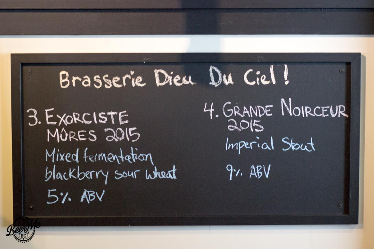 Dieu du Ciel Event Blackberry Brett and Stout Chalkboard