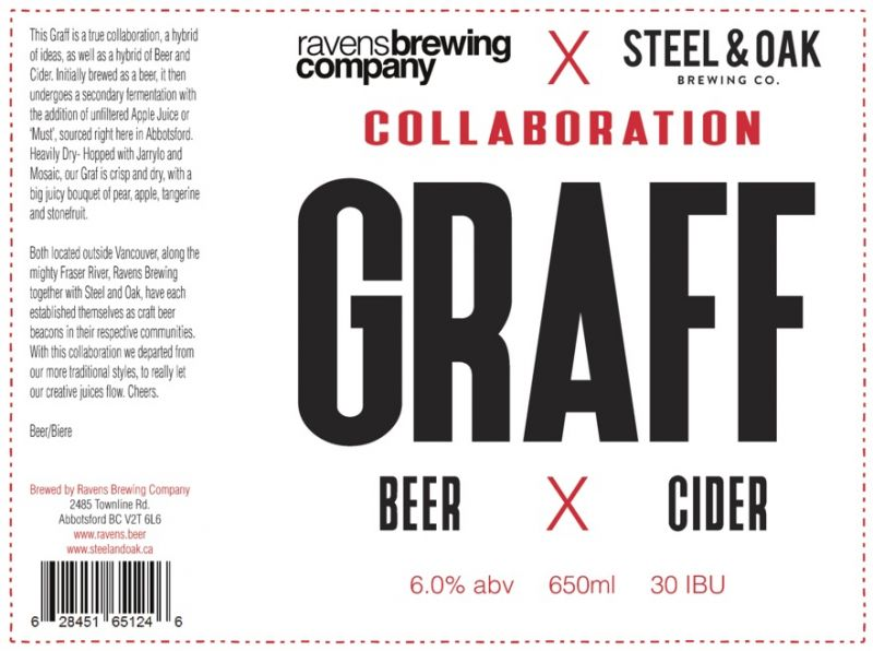 Ravens Brewing Steel & Oak Collaboration Graff Label