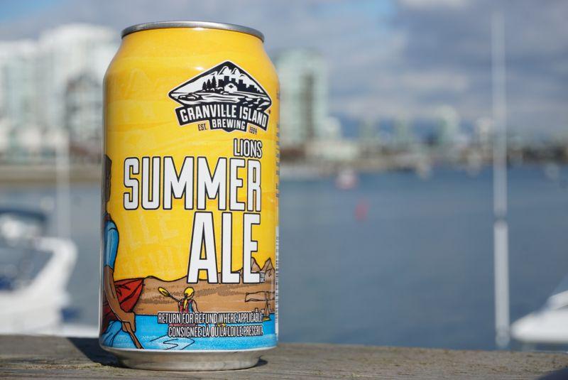 Granville Island Lions Summer Ale Can Ocean