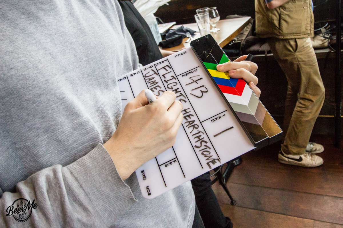 Flights Series Behind the Scenes Clapperboard