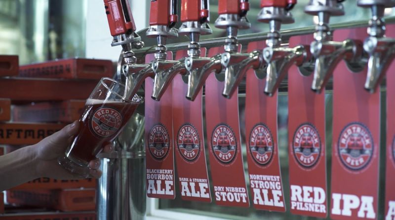 Flights Series Two Red Truck Beer Co Pouring an Ale