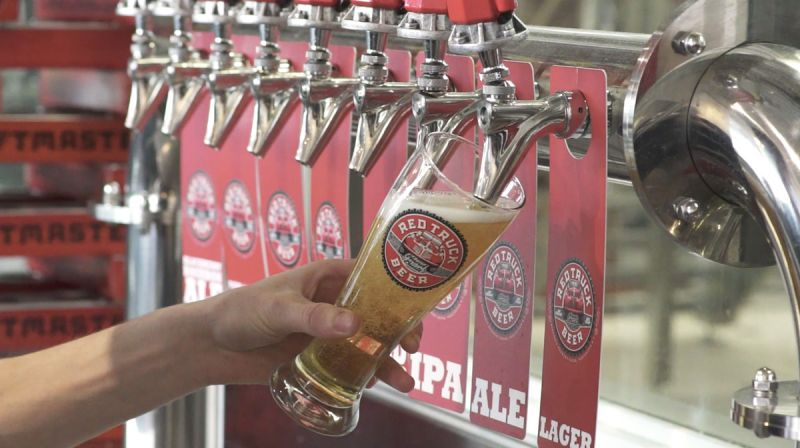 Flights Series Two Red Truck Beer Co Pouring a Lager