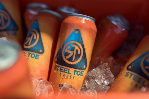 Steel Toe Lager Tall Cans