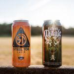 Steel Toe Lager and Green Magic IPA Tall Cans