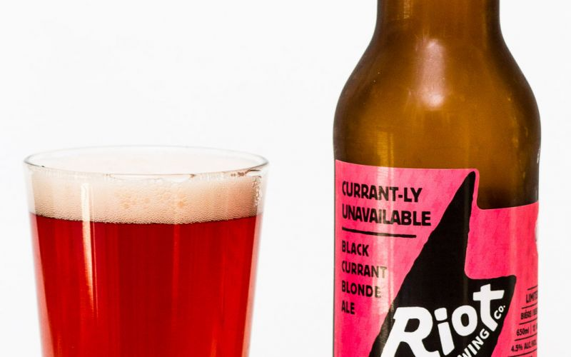 Riot Brewing Co. – Currantly Unavailable Black Currant Blonde Ale