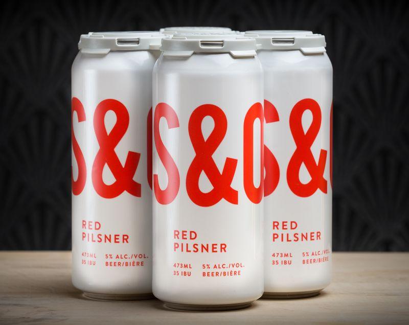 Steel & Oak Red Pilsner Cans