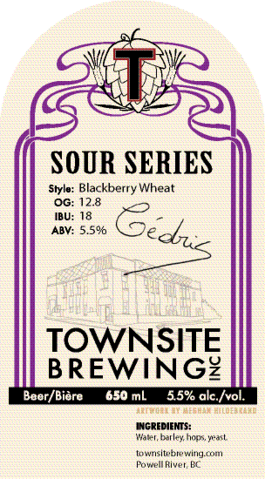 Townsite Brewing blackberry wheat sour