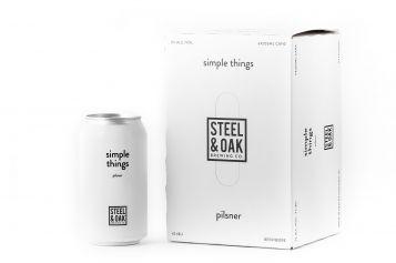 Steel & Oak Launches Simple Things Pilsner, in 6 packs.