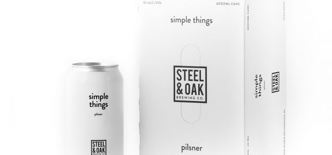 Steel & Oak Launches Simple Things Pilsner, in 6 packs.