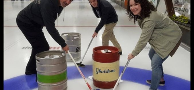 Breweries battle in Keg Curling Fundraiser