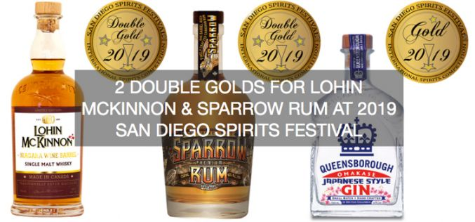 2 Double Golds For Lohin McKinnon & Sparrow Rum at 2019 San Diego Spirits Festival