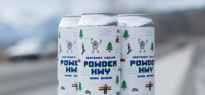 "Fernie Brewing Co. Announces the Launch of the Kootenay Collaborative Brew – ""Powder Hwy Dark Saison"""