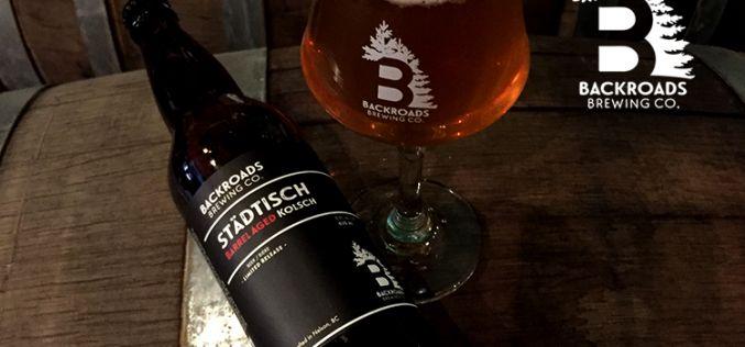 Backroads Brewing Company Releases Stadtisch Barrel Aged Kolsch