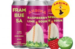 Andina Brewing's Frambuesa Raspberry 🍋 Lime Sour Available Today!