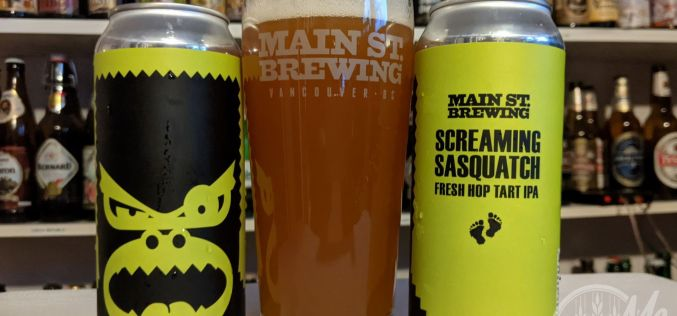 Main Street Brewing –  Screaming Sasquatch Fresh Hop Tart IPA